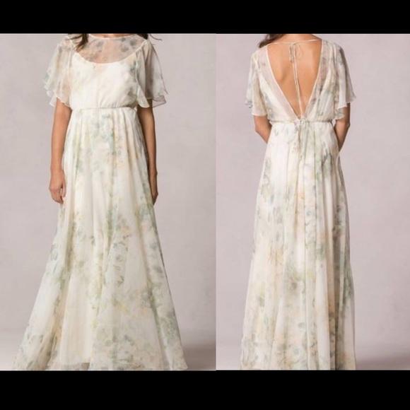 1cbe988a16699 Jenny Yoo Dresses & Skirts - BHLDN Jenny Yoo Peyton Ivory Sage Chiffon Gown